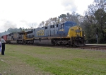 CSX 649 gets off to a smoky start